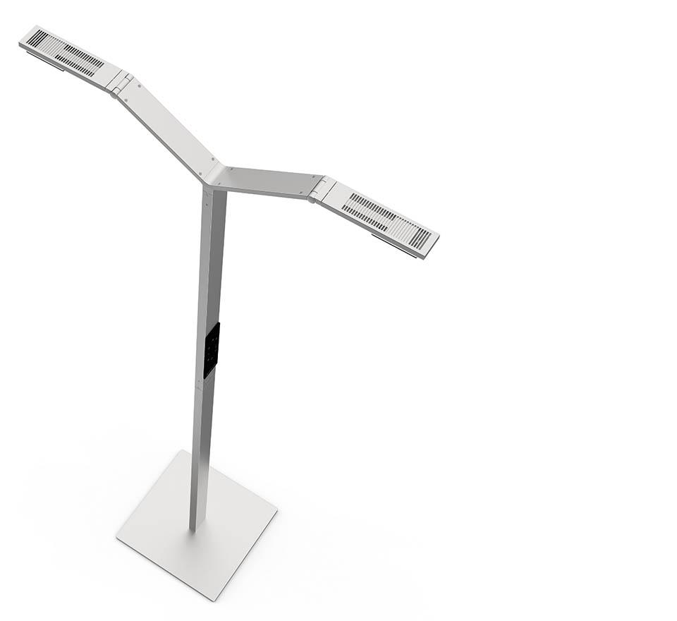 Floor lamps/ floor luminaires: modern, high-quality